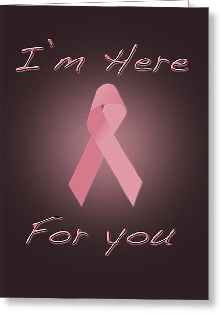 Soulmate Greeting Card featuring the digital art Breast Cancer by Jim  Hatch