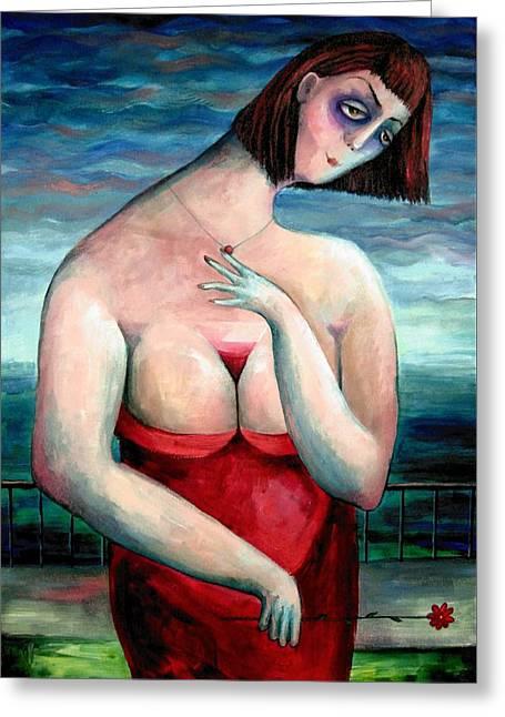 Elisheva Nesis Greeting Cards - Breast Wine Greeting Card by Elisheva Nesis