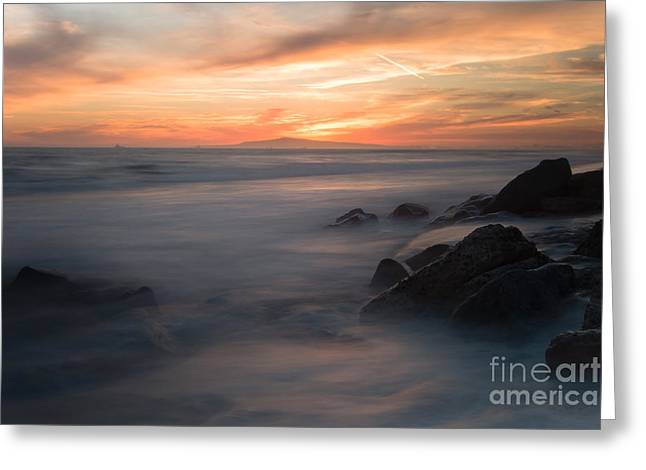 Surf City Greeting Cards - Breath of the Pacific  Greeting Card by Greg  Sabo
