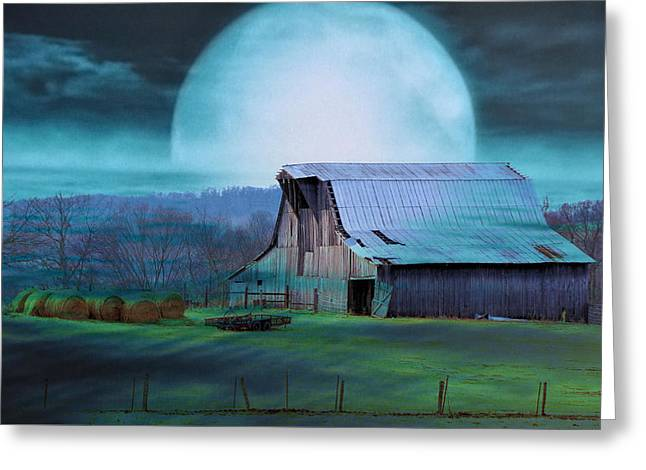 Tennessee Hay Bales Greeting Cards - Breath Of Winter Greeting Card by Jan Amiss Photography