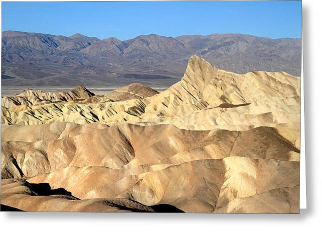 Breath taking landscape of Zabriskie point Greeting Card by Pierre Leclerc Photography