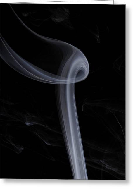 Smoke Art Greeting Cards - Breathe Greeting Card by Bryan Steffy