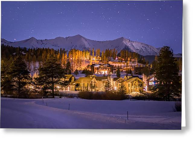 Creek Greeting Cards - Breckenridge Nordic Night  Greeting Card by Michael J Bauer
