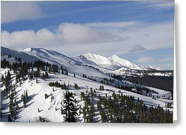 White Pine County Greeting Cards - Breckenridge Resort Colorado Greeting Card by Brendan Reals