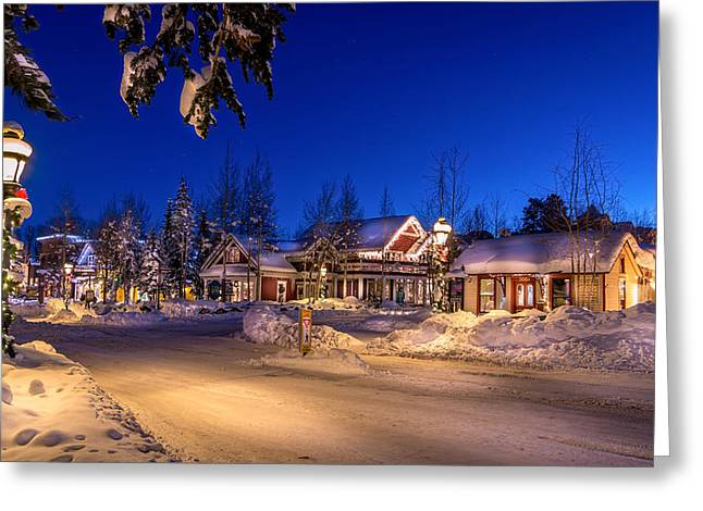 Colorado Prints Greeting Cards - Breckenridge Winter Morning Greeting Card by Michael J Bauer