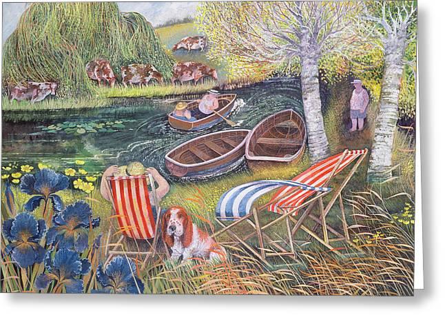 Breezy River Greeting Card by Lisa Graa Jensen