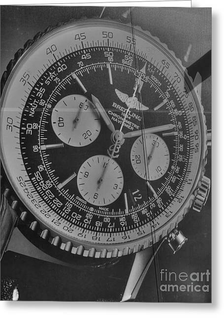 Billboard Greeting Cards - Breitling Chronometer Greeting Card by David Bearden