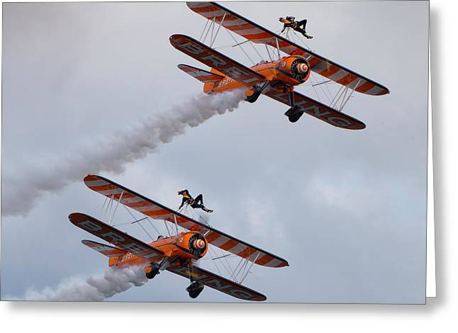 Breitling Wing Walkers Greeting Card by Stephen Smith