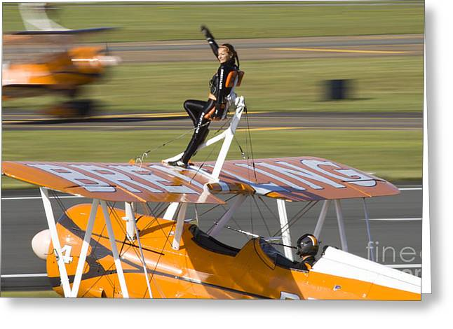 Aerobatic Greeting Cards - Breitling Wingwalkers Greeting Card by Angel  Tarantella