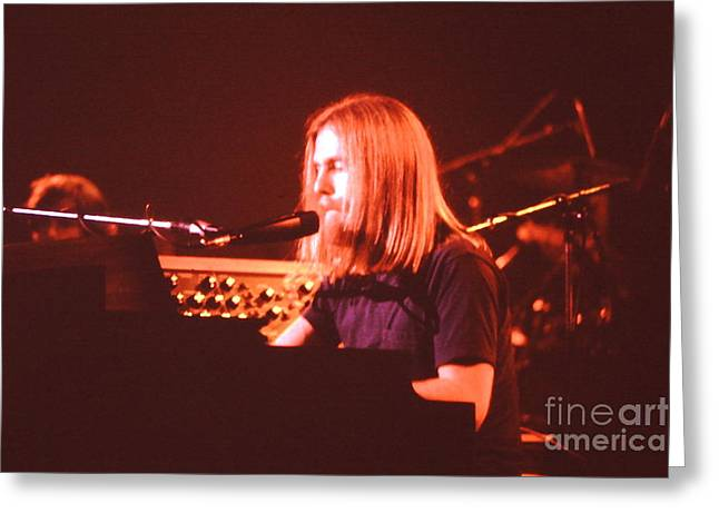 Jerry Garcia Band Greeting Cards - Music- Concert - Grateful Dead - Brent Mydland  Greeting Card by Susan Carella