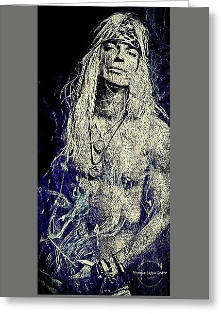 Gray Hair Greeting Cards - Bret Michaels  Greeting Card by Absinthe Art By Michelle LeAnn Scott