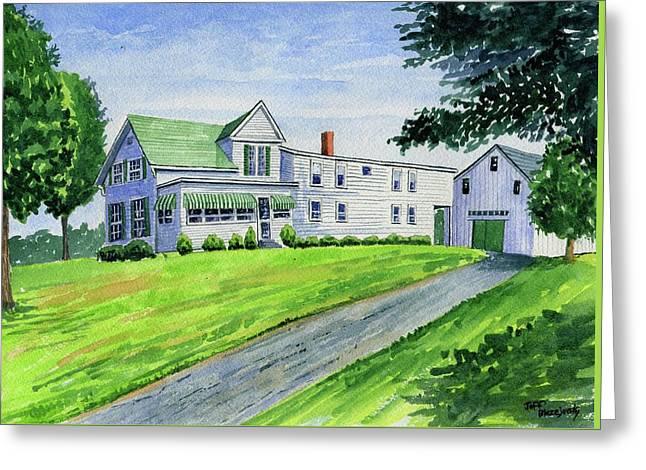 Brewer Family Farm, Augusta Maine Greeting Card by Jeff Blazejovsky