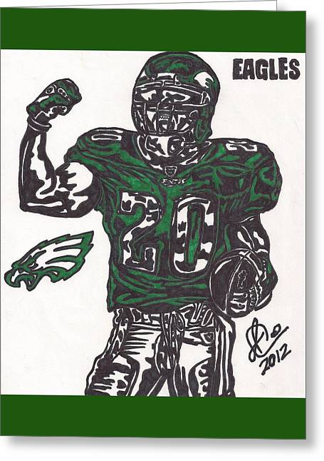 Brian Dawkins Greeting Cards - Brian Dawkins 2 Greeting Card by Jeremiah Colley