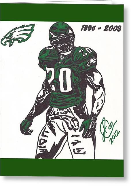 Brian Dawkins 3 Greeting Card by Jeremiah Colley