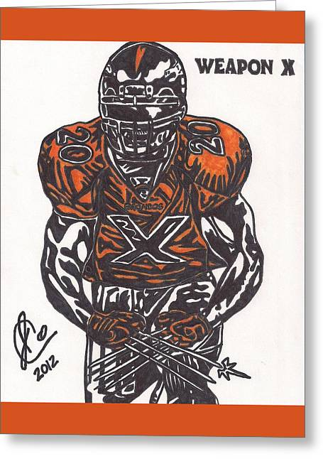 Brian Dawkins Greeting Card by Jeremiah Colley