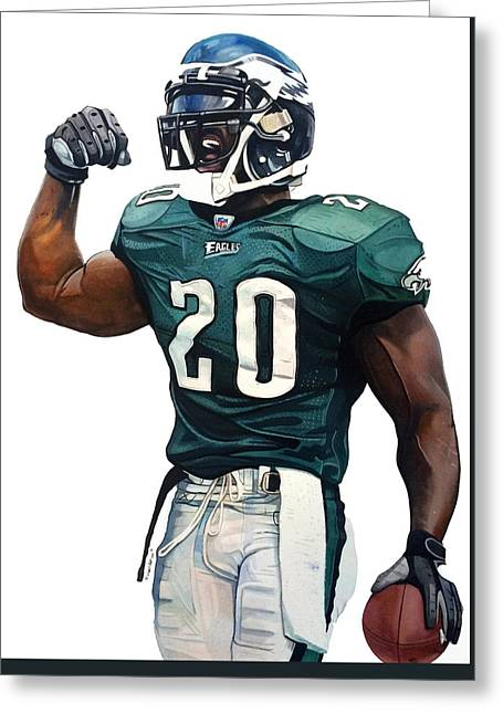 Brian Dawkins - Philadelphia Eagles Greeting Card by Michael Pattison