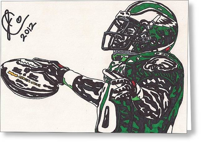 Brian Westbrook 2 Greeting Card by Jeremiah Colley