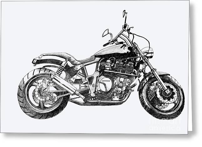 Suspension Drawings Greeting Cards - Brick Splitter 2 Greeting Card by Stephen Brooks