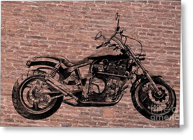 Steering Drawings Greeting Cards - Brick Splitter Greeting Card by Stephen Brooks