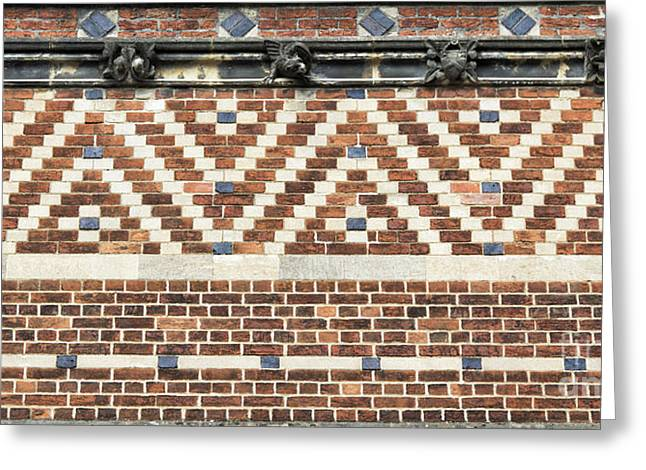 Historic England Greeting Cards - Brick Wall Pattern Oxford Greeting Card by Tim Gainey