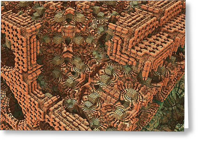 Surreal Geometric Greeting Cards - Bricks and Mortar Greeting Card by Lyle Hatch