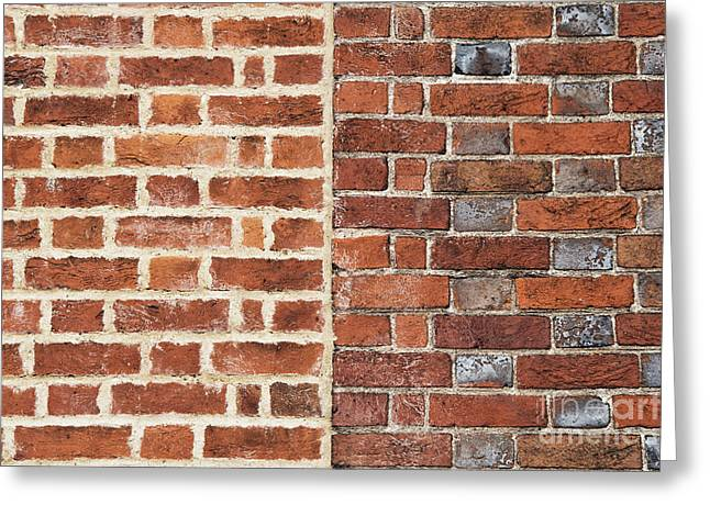 Bricks And Mortar Greeting Card by Tim Gainey