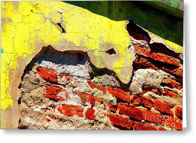Bricks and Yellow by Michael Fitzpatrick Greeting Card by Olden Mexico