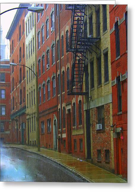 Bricks Greeting Card by Julie Lueders