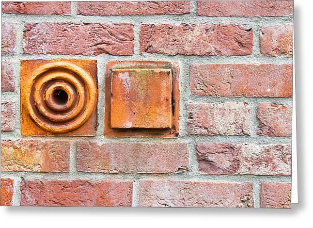 Aging Greeting Cards - Brickwork Greeting Card by Tom Gowanlock