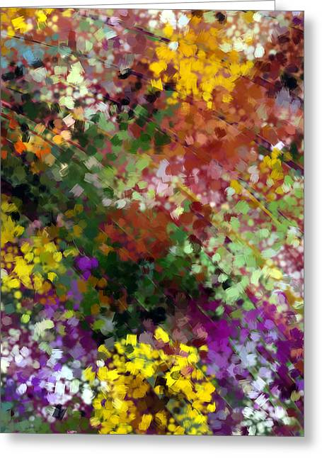 Abstract Digital Tapestries - Textiles Greeting Cards - Bridal Bouquet Greeting Card by Suzi Freeman