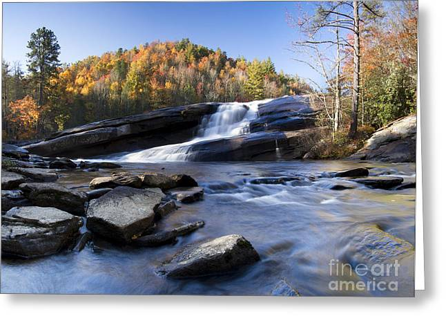 Bridal Veil Falls In Dupont State Park Nc Greeting Card by Dustin K Ryan