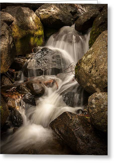 Bridal Veil Water Greeting Card by Ralph Vazquez