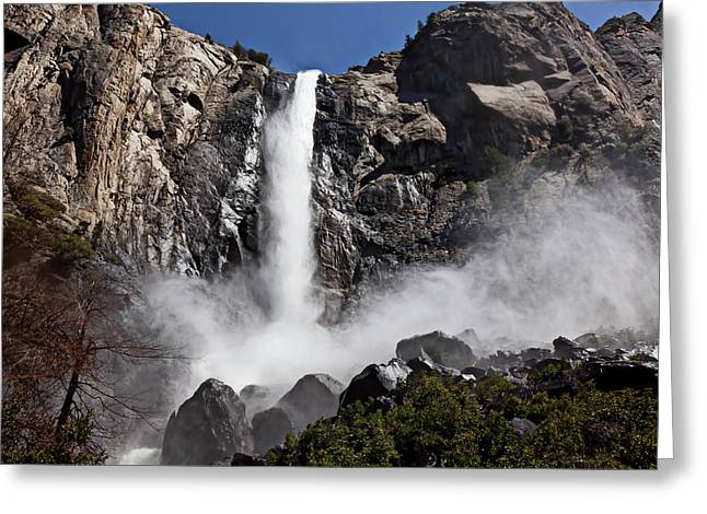 Bridalveil Falls Greeting Cards - Bridalveil Falls Greeting Card by Garry Gay