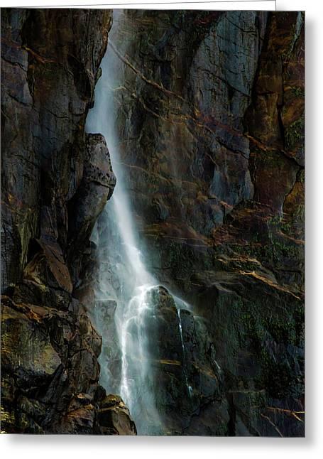 Bridalveil Falls In Autumn Greeting Card by Bill Gallagher