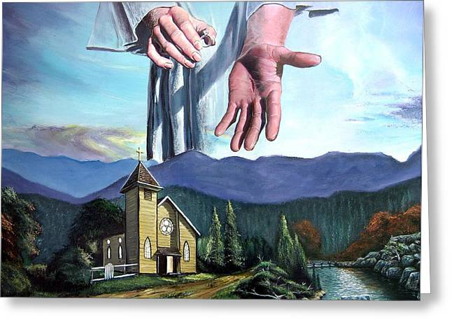 Religious ist Paintings Greeting Cards - Bridegroom Greeting Card by Larry Cole