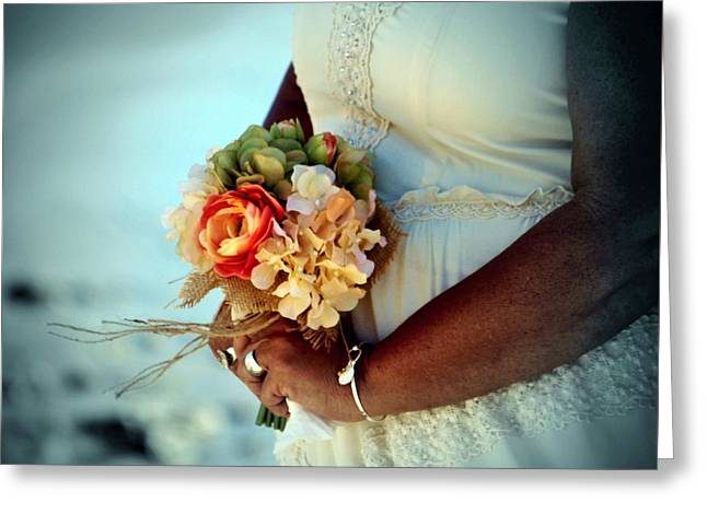 Wife Greeting Cards - Brides Bouquet Greeting Card by Cynthia Guinn
