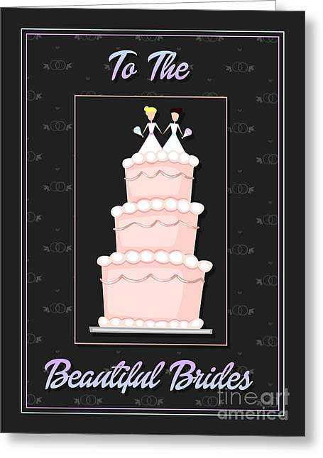 Wife Greeting Cards - Brides Cake Greeting Card by JH Designs