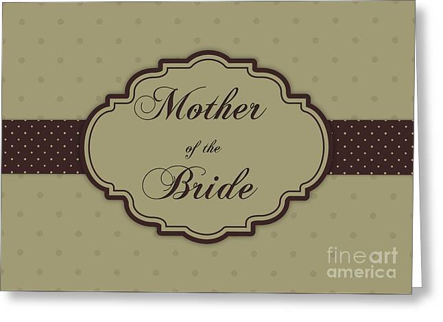 Wife Greeting Cards - Brides Mother Brown Polka Dot Greeting Card by JH Designs