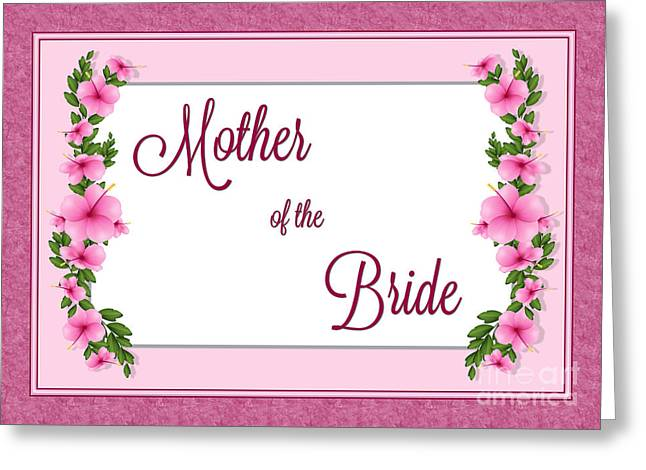 Wife Greeting Cards - Brides Mother Hibiscus Greeting Card by JH Designs