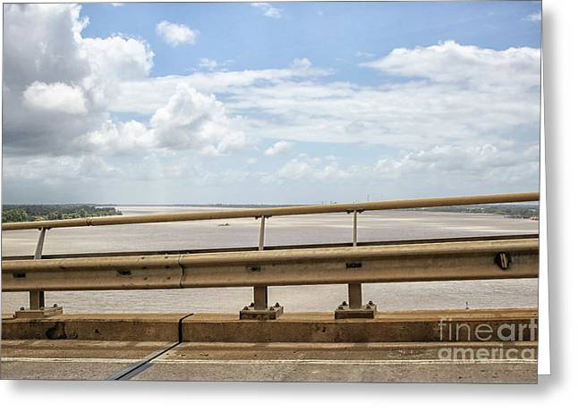 Bridge And River Greeting Card by Patricia Hofmeester