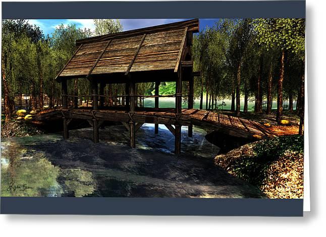 Covered Bridge Greeting Cards - Bridge at LArc en Ciel Greeting Card by Kylie Sabra