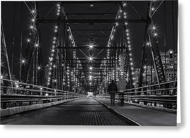 Exposure Greeting Cards - Bridge at Night Greeting Card by Zac Lanier