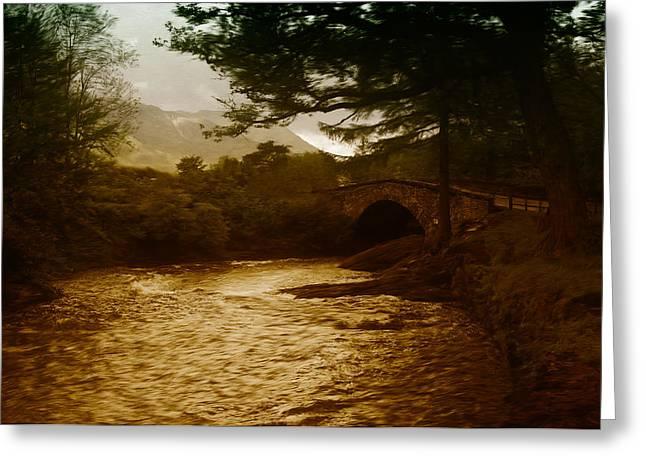 Bridge At The River Coe Greeting Card by Mark Denham