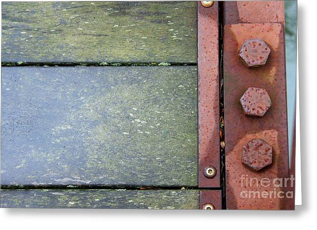Component Greeting Cards - Bridge Bolts Abstract Greeting Card by Karen Adams