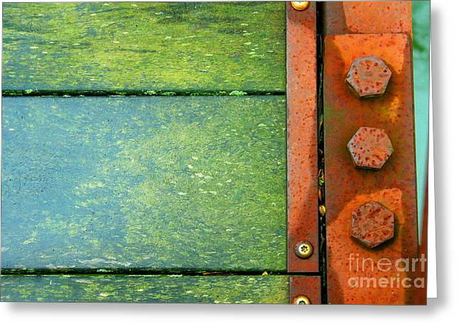 Component Greeting Cards - Bridge Bolts Kicked Greeting Card by Karen Adams