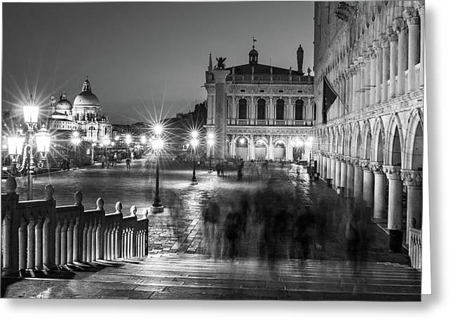 Bridge By Doge's Palace - Venice Greeting Card by Barry O Carroll