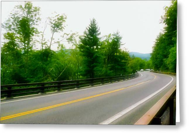Paradise Road Paintings Greeting Cards - Bridge By Kaaterskill Falls 1 Greeting Card by Lanjee Chee