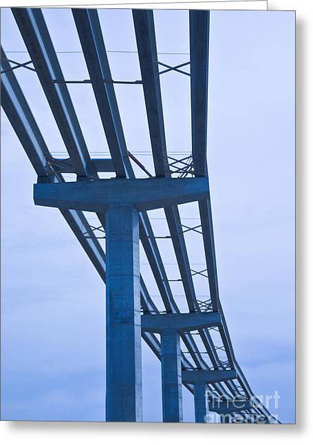 Traffic Control Greeting Cards - Bridge Construction Greeting Card by Inga Spence