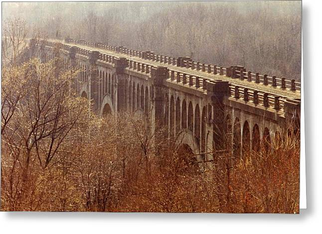 Weird New Jersey Greeting Cards - Bridge Greeting Card by Don Youngclaus