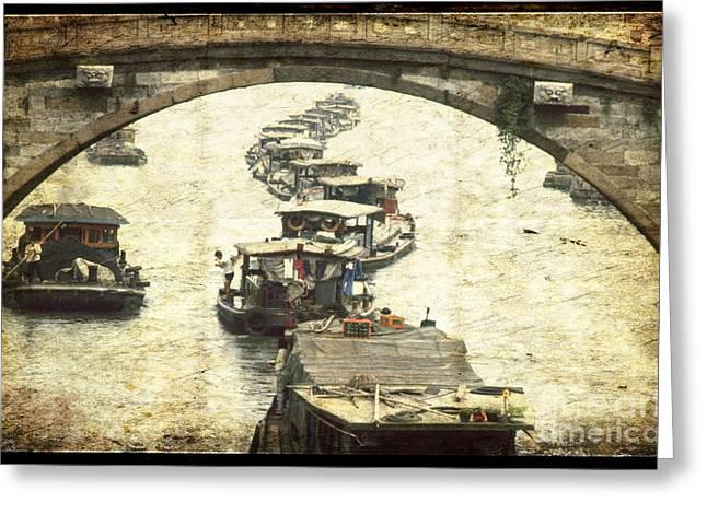 Old Beijing Greeting Cards - Bridge in Souzhou Greeting Card by Heiko Koehrer-Wagner